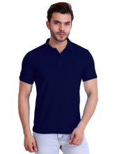Hiflyers Polo Neck Mens Navy Tshirt with Pocket