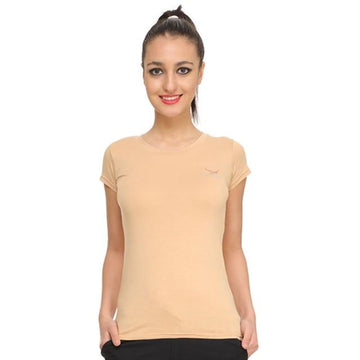 Hiflyers Womens T Shirt Beige