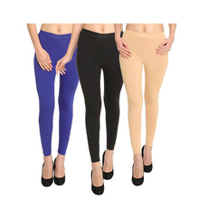 HiFlyers Women Ankle Length Leggings Pack Of 3