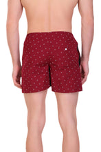 Hiflyers Men Printed Cotton Boxer Short Maroon