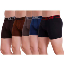 T.T. Men Trunk Pack of 5 (Black - Blue - Brown - Rust - D.Brown)