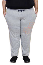 T.T. MENS PLUS SIZE SOLID GREY TRACKPANT