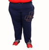 T.T. Mens Plus Size Solid Blue Trackpant
