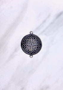 "Copy of ""Medallion"" Antique Silver Connector (23mm x 26mm)"