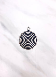 """Simplicity"" Antique Silver Charm (16mm)"