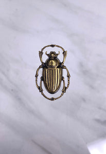 """Scarab"" Antique Brass Pendant (20mm x 32mm)"