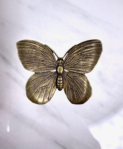 """Medium Butterfly"" Antique Brass Pendant (30mm x 24mm)"