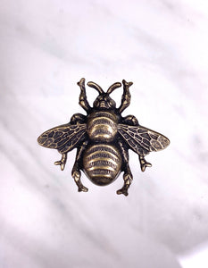 """Queen Bee"" Antique Brass Pendant (31mm x 29mm)"