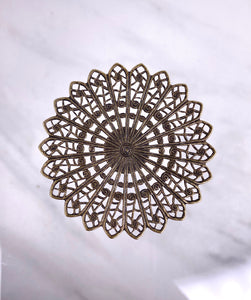 """Trance""  Antique Brass Filigree (45mm)"