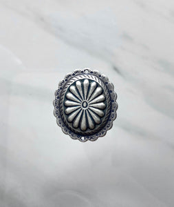 """Medallion"" Antique Silver Connector (23mm x 26mm)"