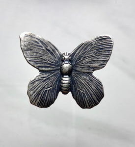 """Medium Butterfly"" Antique Silver Pendant (30mm x 24mm)"