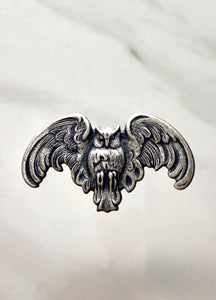 """Winged Owl"" Antique Silver Pendant (36mm x 20mm)"