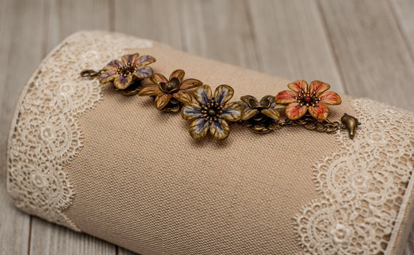 HE LOVES ME, HE LOVES ME NOT . . . HAND-PAINTED FLORAL BRACELET KIT
