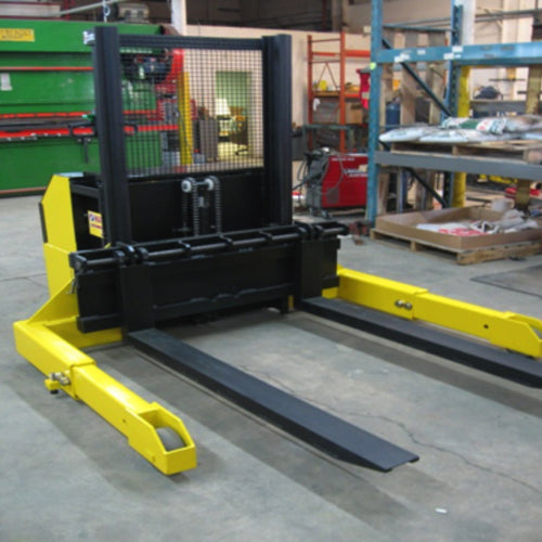 6,000 lbs Capacity Straddle Stacker with Adjustable Legs for Length