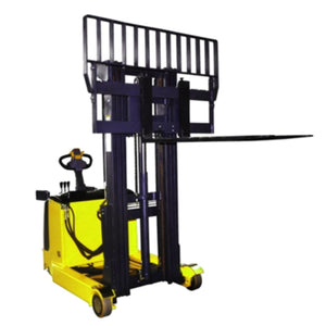 Electric Reach Stacker with Wider Fork Carriage