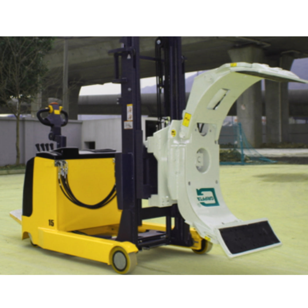 Electric Reach Stacker with Clamp