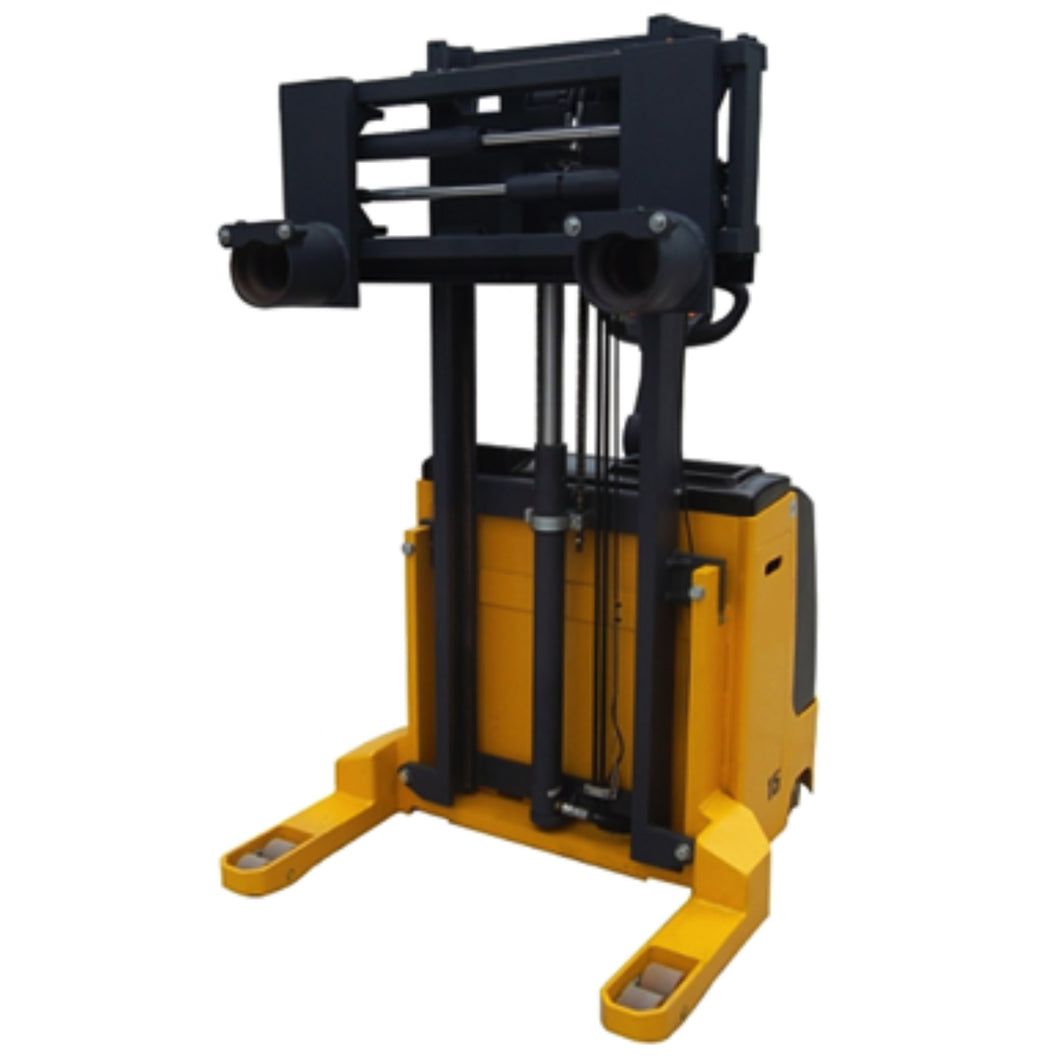 1.5T Electric Stacker with Grabbing and Lift Frame