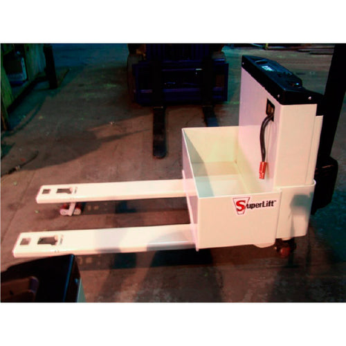 Low profile pallet truck 1 7/8 Inch lowered height - Superlift Material Handling