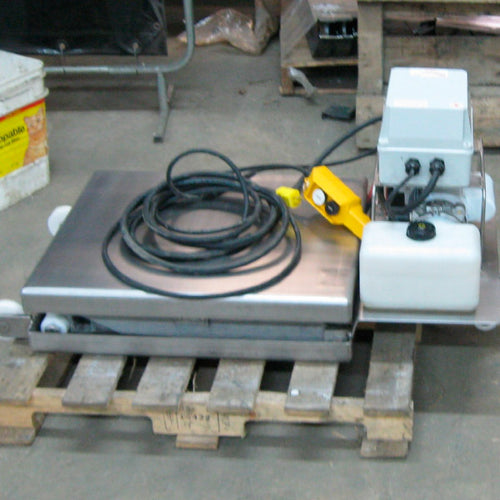 Mini Semi Portable Lift Table in Stainless Steel - Superlift Material Handling