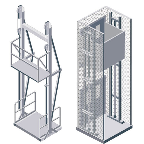 Vertical Hydraulic Material Lifts - Superlift Material Handling