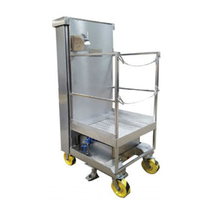 Stainless Steel Air Powered Manlift - Superlift Material Handling