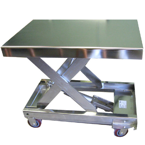 Stainless Steel Portable Lift Table - Superlift Material Handling