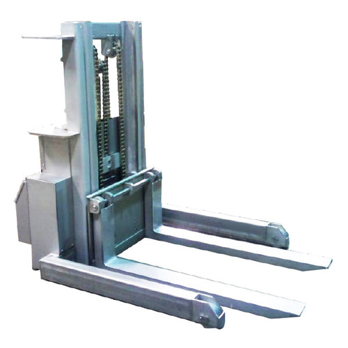 Stainless Steel Tight Turning Ratio Stacker - Superlift Material Handling