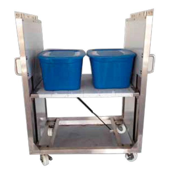 Self Leveling Stainless Steel Clean Room Carts and Hospital Carts - Superlift Material Handling