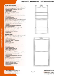 Vertical Material Lift Products SLMLM VML