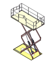 Load image into Gallery viewer, Aviation Double Scissor Lift