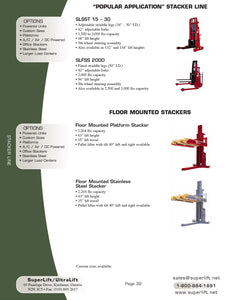 Floor Mounted Stackers