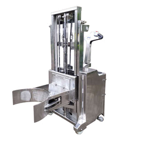 Stainless Steel Walkie Stacker with Drum Lift