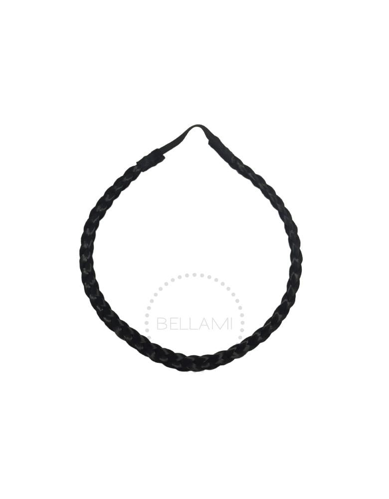 Braided Hairband Jet Black (1)