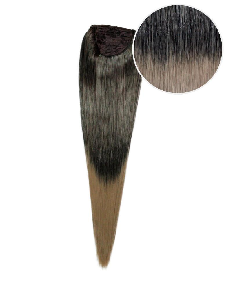 "Faux Wrap Ponytail 180g 24"" Mochachino Brown Dirty Blonde Ombre (1C/18)"