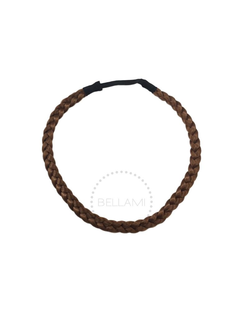 Braided Hairband Chestnut Brown (6)