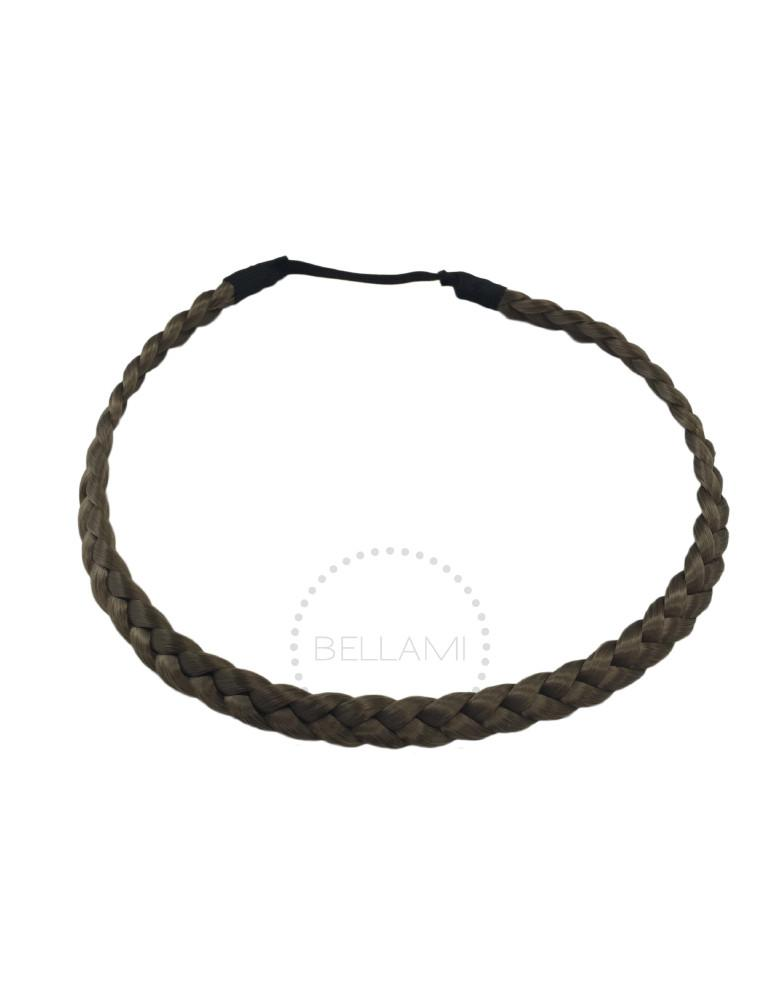 Braided Hairband Ash Brown (8)