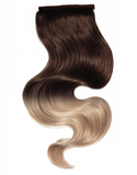 "BELLAMI It's A Wrap Ponytail 20"" 100g  Balayage Dark Brown and Dirty Blonde (#2/#18) Human Hair"