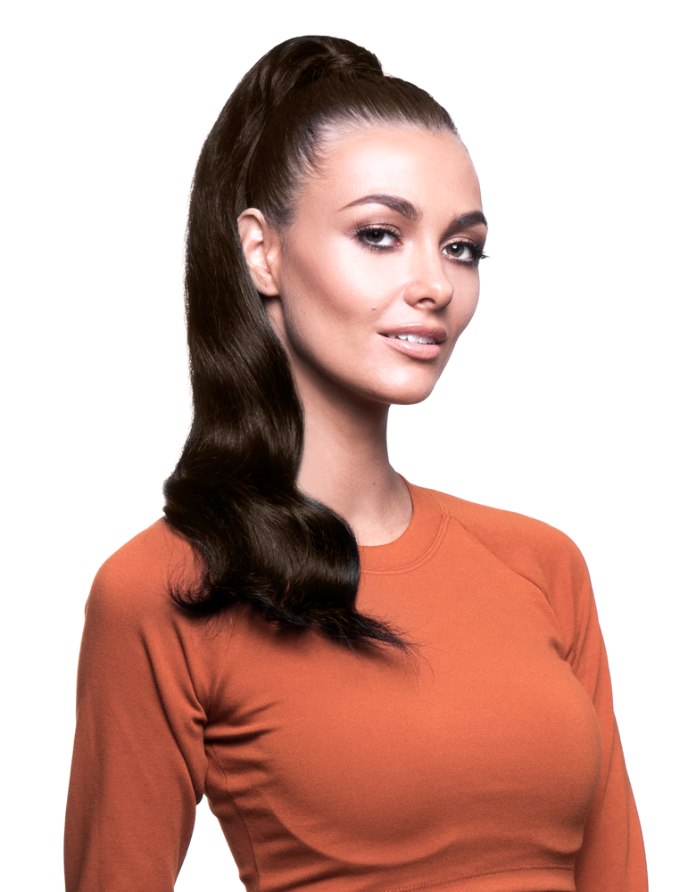 "BELLAMI It's A Wrap Ponytail 20"" 100g  Dark Brown (#2) Human Hair"