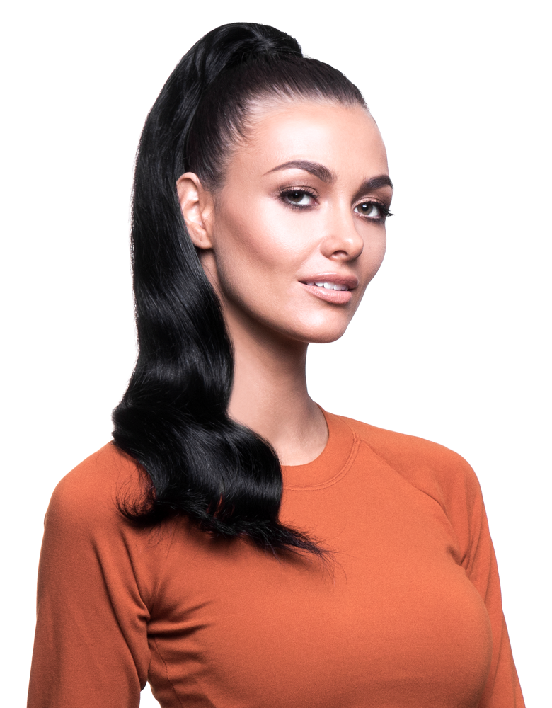 "BELLAMI It's A Wrap Ponytail 20"" 100g  Jet Black (#1) Human Hair"