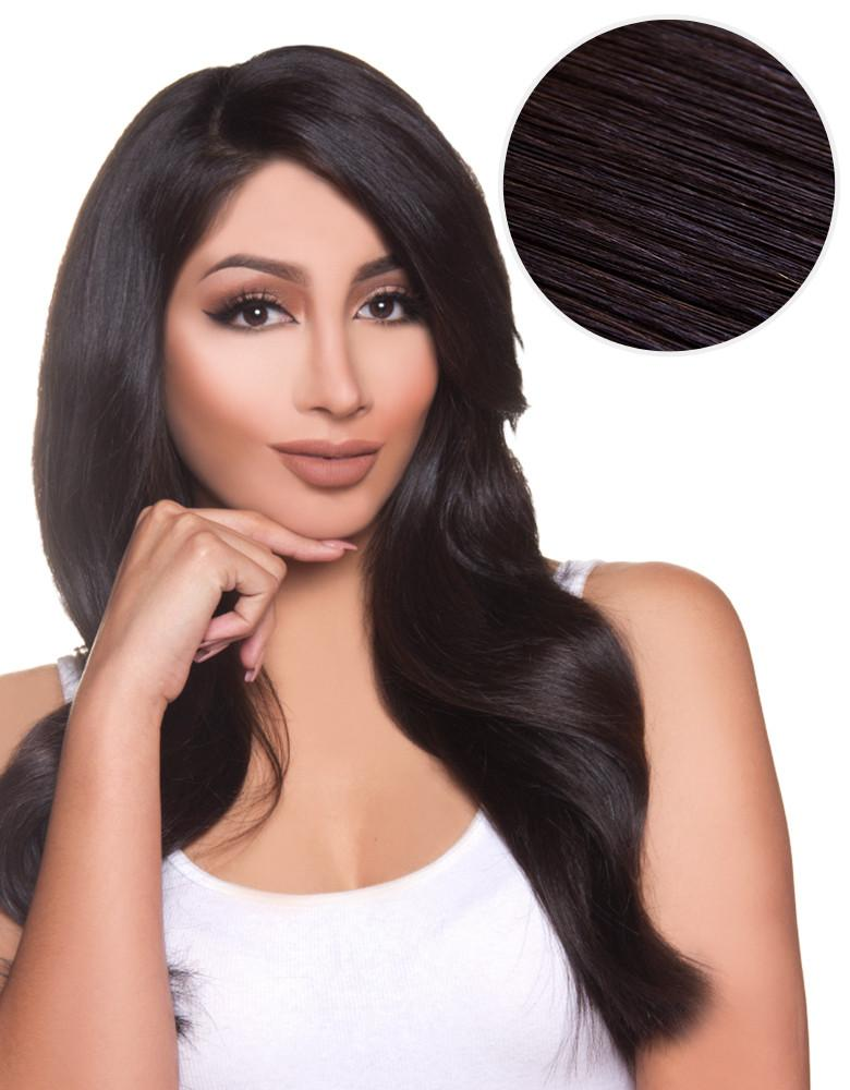 Side Swept Clip In Bangs Off Black (1B)