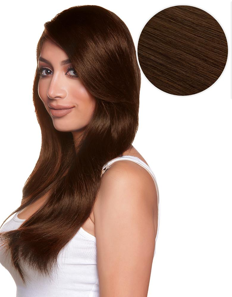 Side Swept Clip In Bangs Chocolate Brown (4)