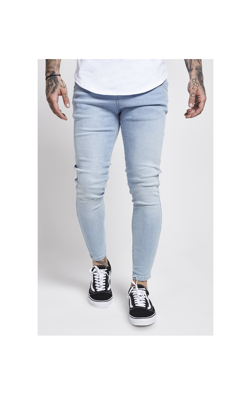 SikSilk Skinny Denim – Light Blue (1)