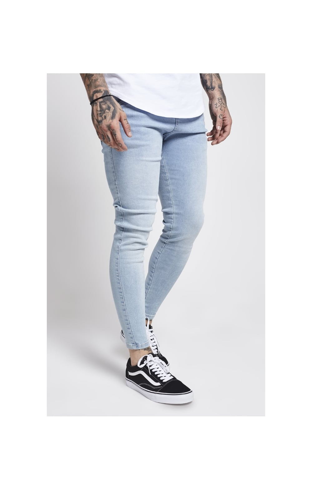 Load image into Gallery viewer, SikSilk Skinny Denim – Light Blue (2)