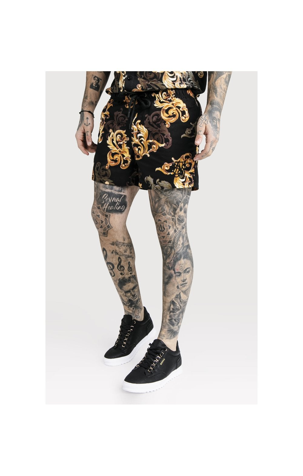 SikSilk x Dani Alves Swim Shorts - Black & Gold