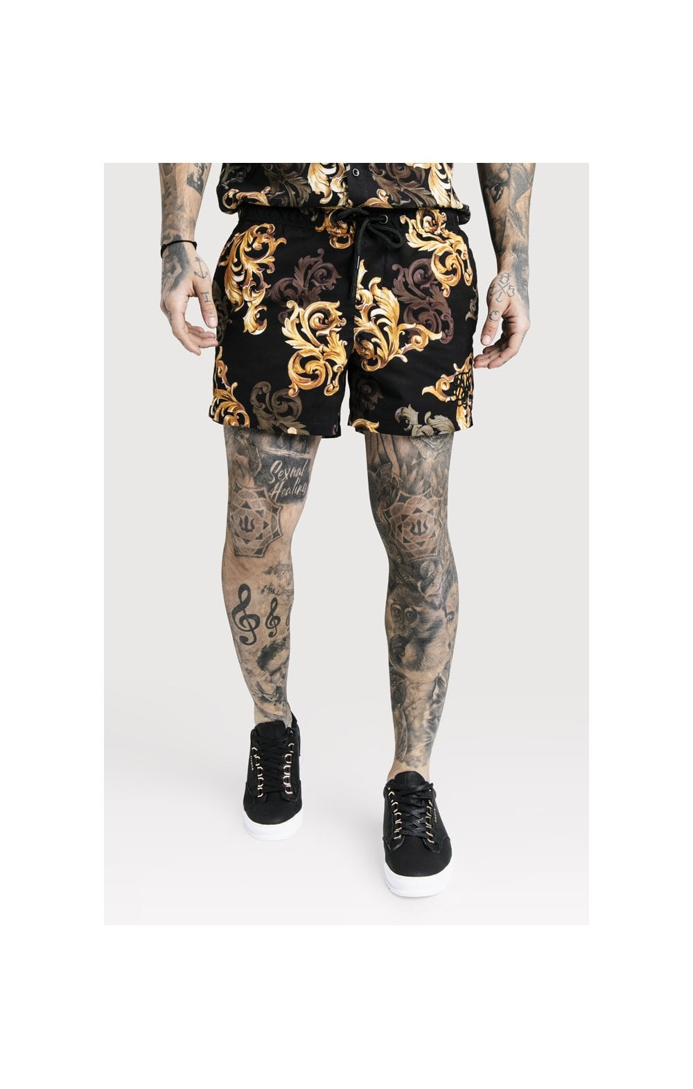 SikSilk x Dani Alves Swim Shorts - Black & Gold (1)