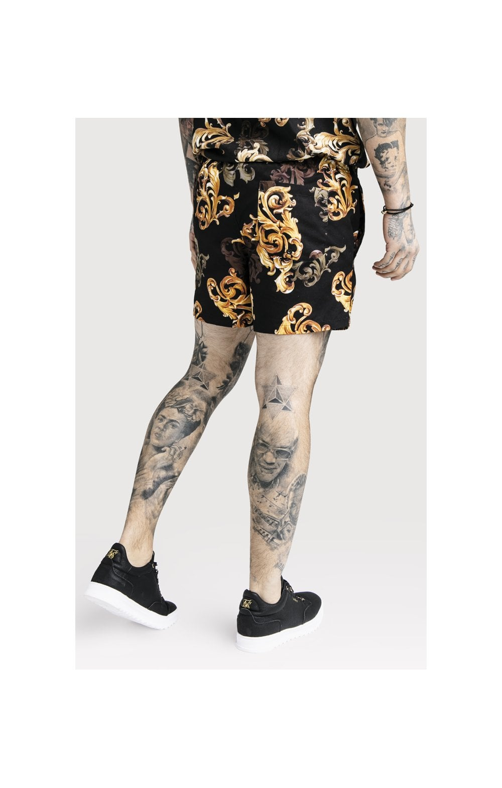SikSilk x Dani Alves Swim Shorts - Black & Gold (2)