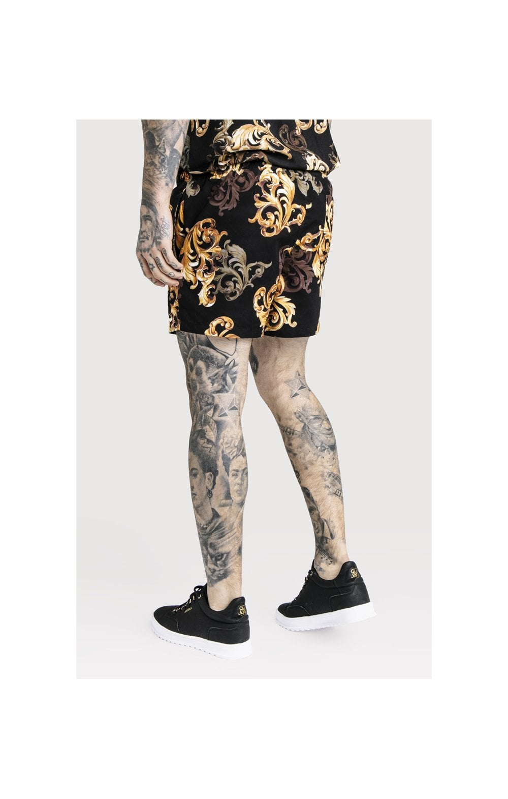 SikSilk x Dani Alves Swim Shorts - Black & Gold (3)