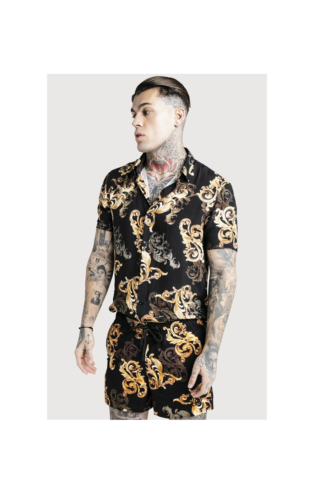 SikSilk x Dani Alves Swim Shorts - Black & Gold (4)