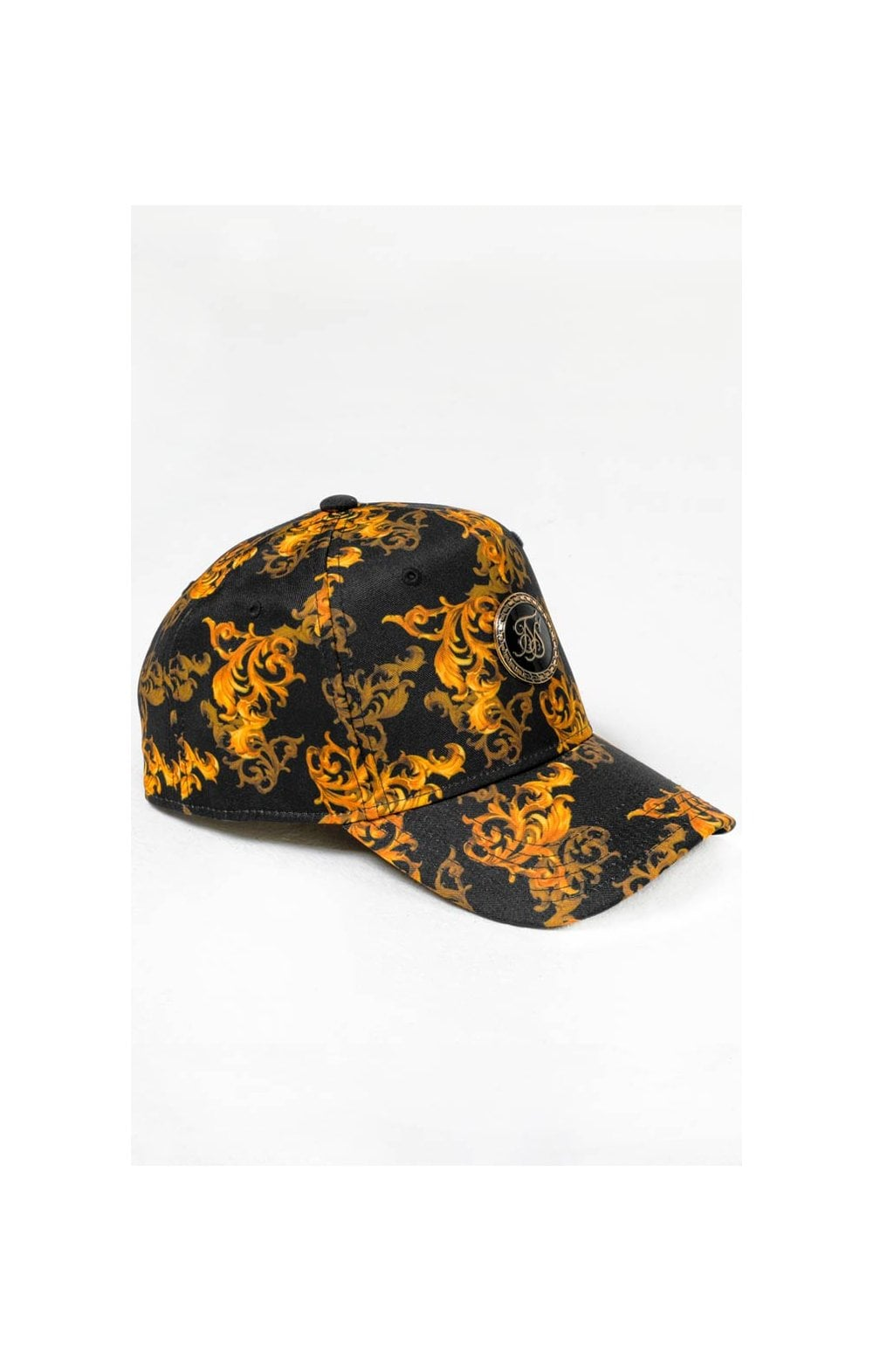 SikSilk x Dani Alves Bent Peak Trucker - Black & Gold