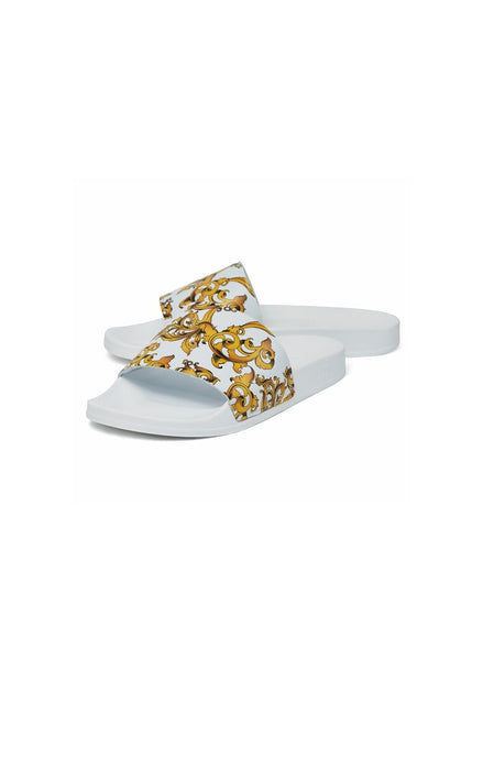 SikSilk Venetian Slides - White & Gold
